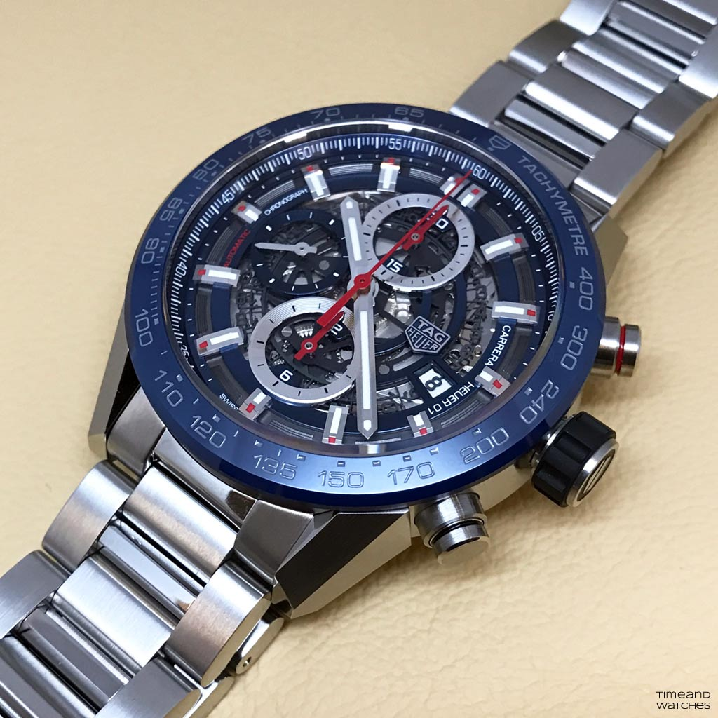 Hands on review tag heuer carrera heuer 01 time and watches for Tag heuer c flex