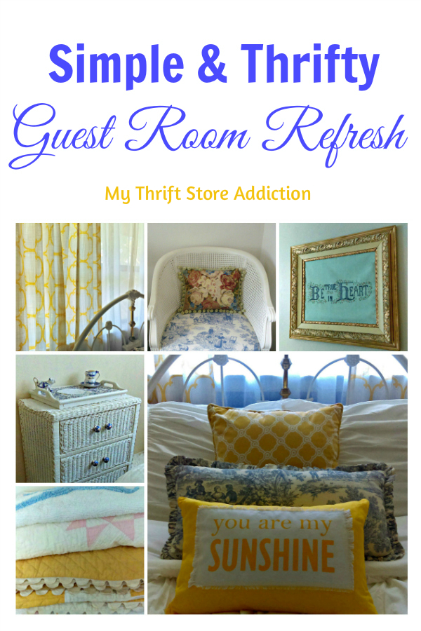 Simple thrifty guest room refresh