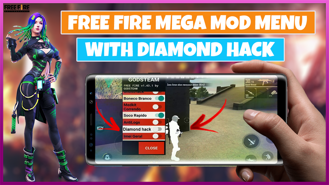 Download Garena Free FIRE Hack MOD APK 1.57.0(Unlimited Diamonds) -  - Free Cheats for Games