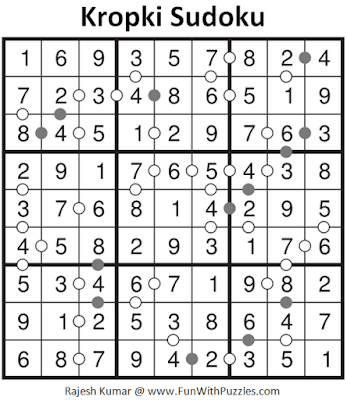 Answer of Kropki Sudoku Puzzle (Fun with Sudoku #290)