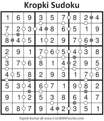 Answer of Kropki Sudoku Puzzle (Fun with Sudoku #290)