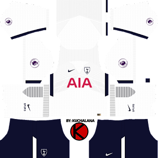 Tottenham Hotspur Kits 2017/2018 - Dream League Soccer