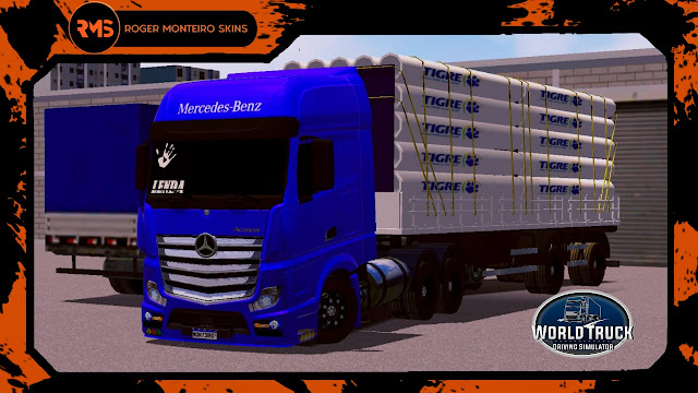 Skins World Truck, Skins Actros, Cano tigre, Actros, Carretinha 2 eixos