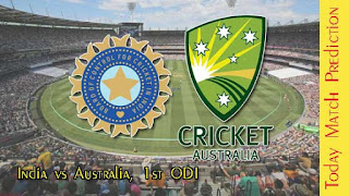 1st ODI Match Prediction Tips by Experts IND vs AUS