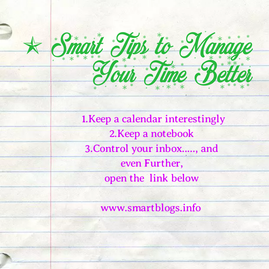 8 Smart Tips to Manage Your Time Better