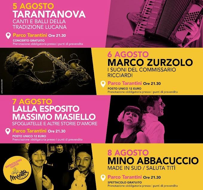 Al via il 5 agosto l'ottava edizione del ''Marateatro Festival''