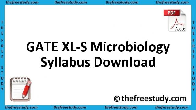 GATE Microbiology Syllabus Download