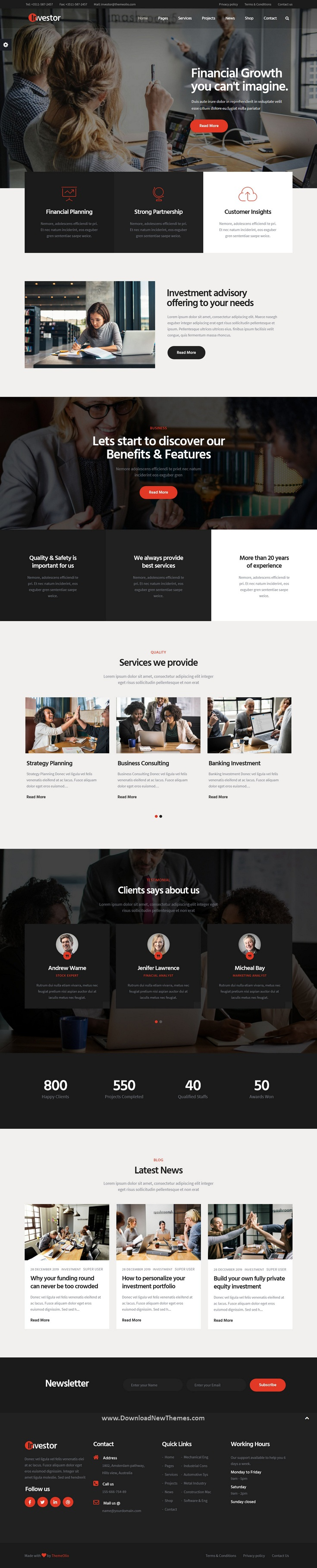 Finance and Investment Joomla Template
