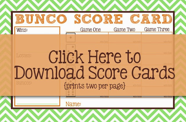 I Should Be Mopping The Floor: Free Bunco Printables