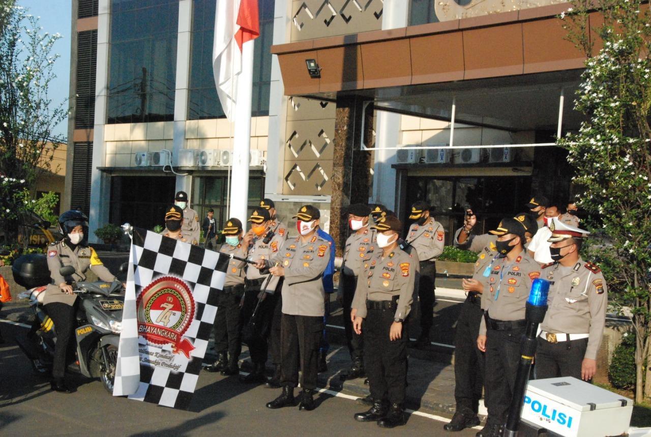 Polresta Bandar Lampung gelar Baksos Bagikan Sembako dalam Rangka Hari Bhayangkara Ke-74