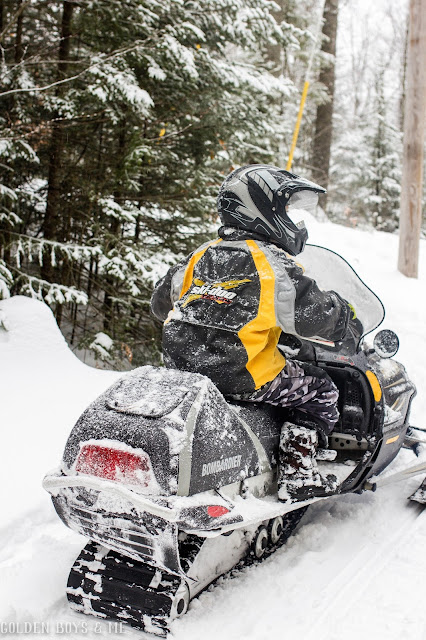 Snowmobile fun in the Adirondacks