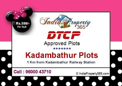 Kadambathur Plots - Thanigai Estate - Call : 9600043710