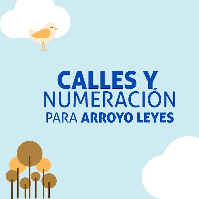 La Comuna de Arroyo Leyes propone ordenar los nombres de calles y numeración en la planta urbana