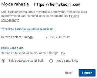 Mengirim email rahasia