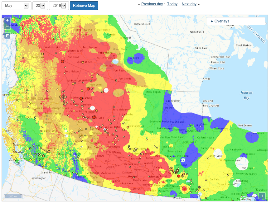 Wildfire Canada Interactive Map Prairie Pest Monitoring Network Blog: Active Wildfires (May30