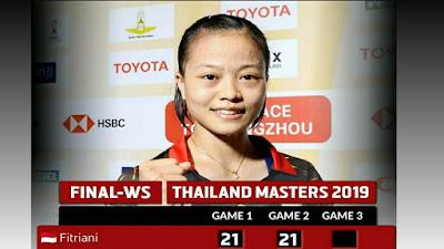 Masters Juara Thailand 2019 Fitriani Dicoret, Apakata Tim Pelatnas Cipayung