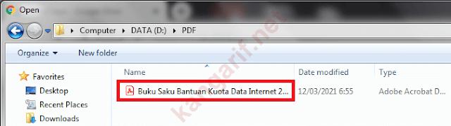 pilih file pdf yang mau diconvert ke word