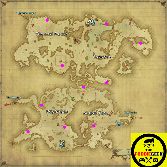Final Fantasy XIV: Stormblood All Aether Current Locations - The Peaks