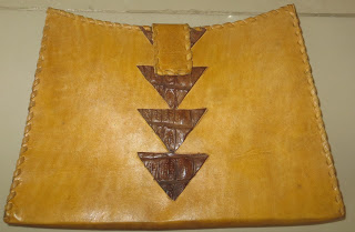 Pointed Crocodile Kru Clutch