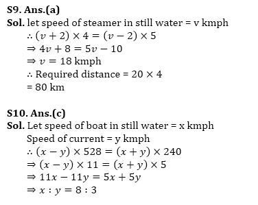 Numerical Ability for SBI Clerk Prelims Exam 2018 (Boat and Stream)