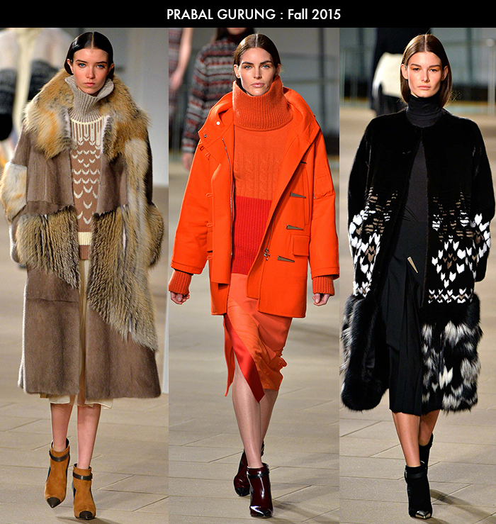 NYFW trends, Prabal Gurung, fall 2015