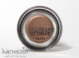 [Review] Maybelline Color Tattoo 24HR Eyeshadow – 35 On and on Bronze