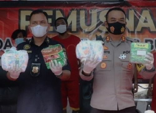 Polresta Barelang Rebus 17 Kg Sabu, Tangkapan Sejak November 2020