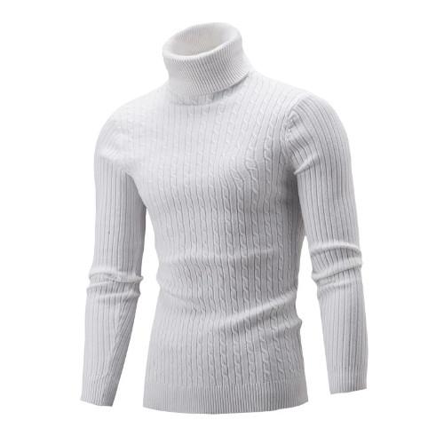 Unisex Turtleneck Sweater White