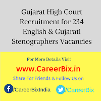 Gujarat High Court Recruitment for 234 English & Gujarati Stenographers Vacancies