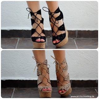 Fashion: Justfab - Cutout Keilabsatz Heels - www.annitschkasblog.de