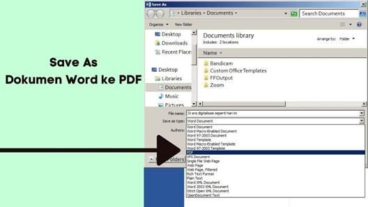 Convert Dokumen Word dan Gambar ke PDF Menggunakan Microsoft Word