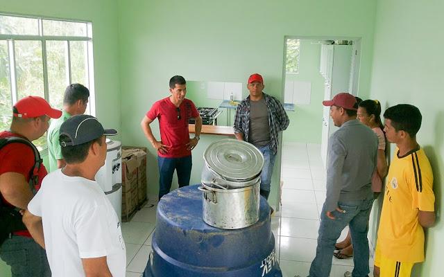 Secretaria de Produção Rural e comissão de vereadores visitam comunidade Santa Luzia em Benjamin Constant