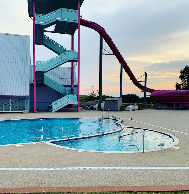 Combe Haven Holiday Park outdoor pool and slide
