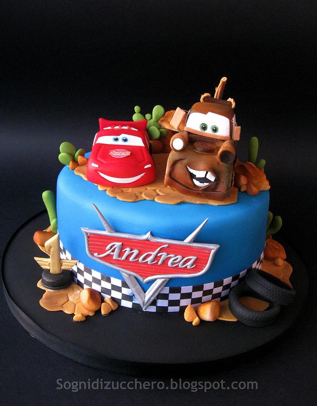 Torte Cake Design Cars : sogni di zucchero: Pixar Cars cake