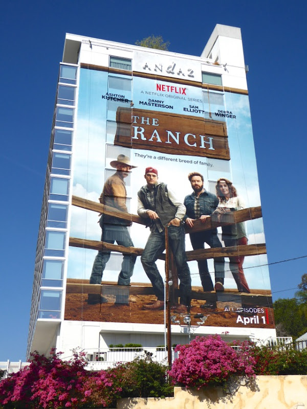 The Ranch giant series premiere billboard