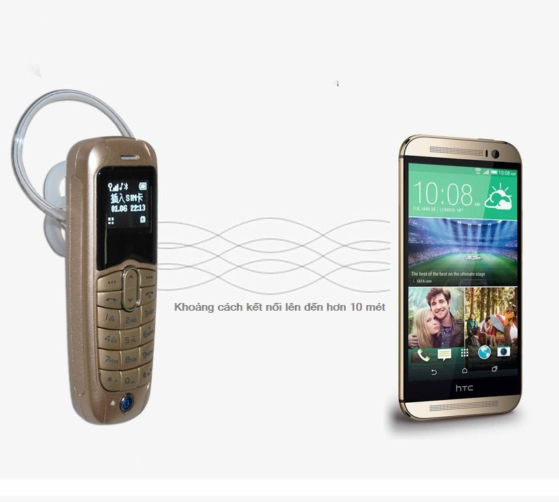 Điện thoại mini kiêm tai nghe bluetooth Long-Cz J8 chính hãng