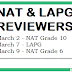 LAPG & NAT Reviewers, Answer Sheets, School Headers and Examiners Handbook