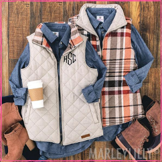 Monogrammed Reversible Vest from Marleylilly.com