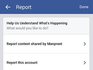 Arti Report di Facebook