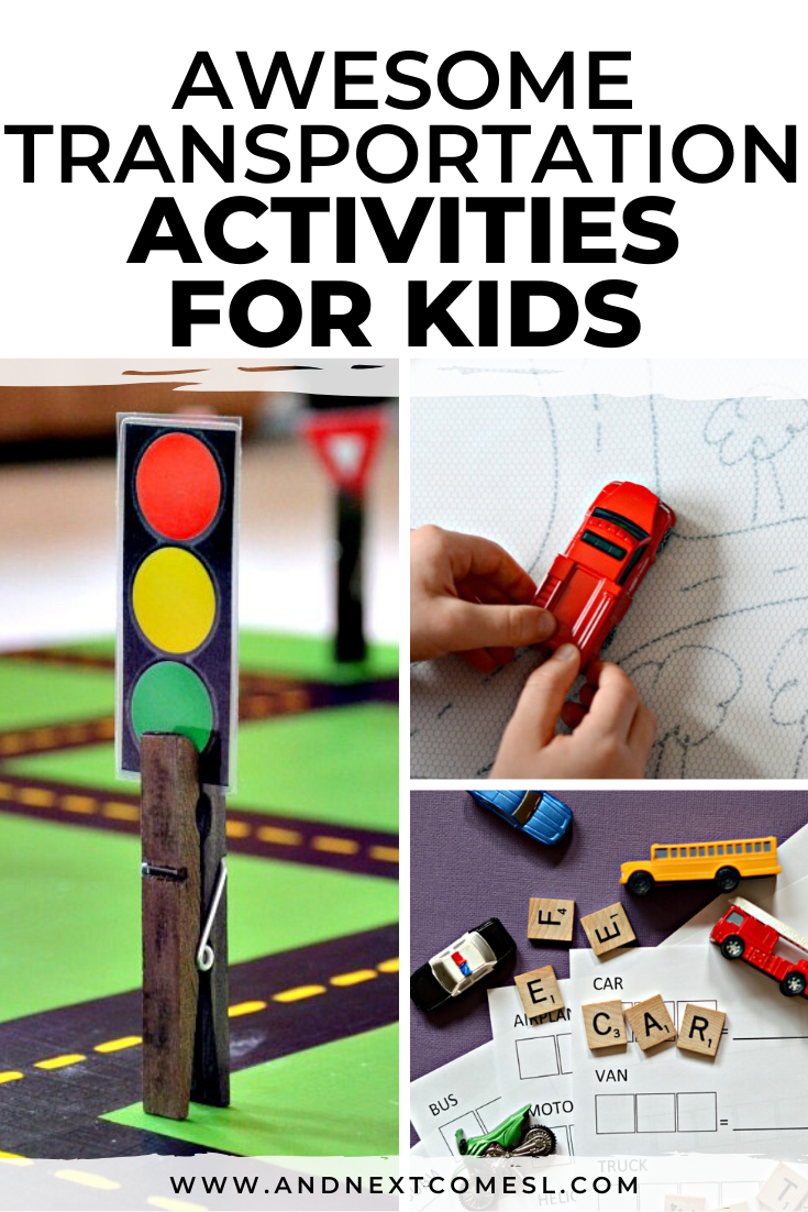 Need ideas for a transportation preschool theme? Try these transportation and car themed activities for kids