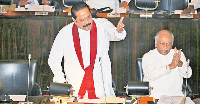 தாக்குதலை ஒரு இனத்தின் மீது திணிக்க வேண்டாம்- சபையில் மஹிந்த உரை #SriLankaAttacks