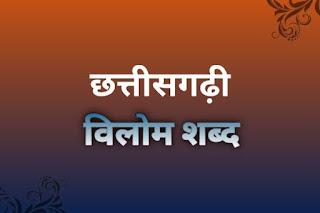 Chhattisgarhi vilom sabd hindi me