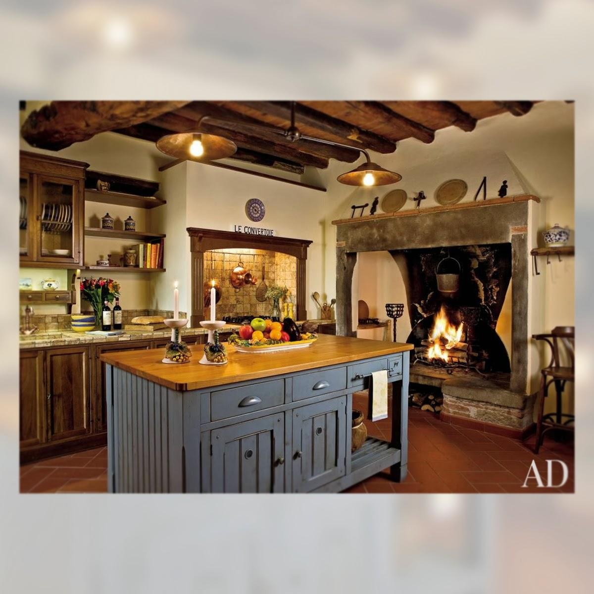Decoracion 5 cocinas r sticas la musa decoraci n for Cocinas rusticas con chimenea