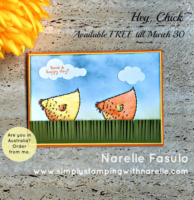 Hey, Chick! - FREE Sale-A-Bration set - Simply Stamping with Narelle - available here - https://www3.stampinup.com/ecweb/default.aspx?dbwsdemoid=4008228