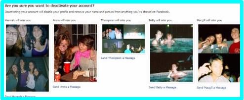facebook deactivate link