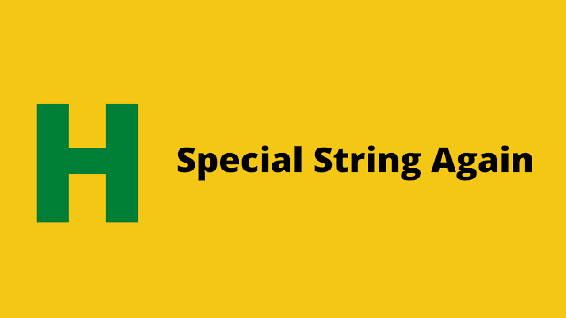 HackerRank Special String Again interview preparation kit solution