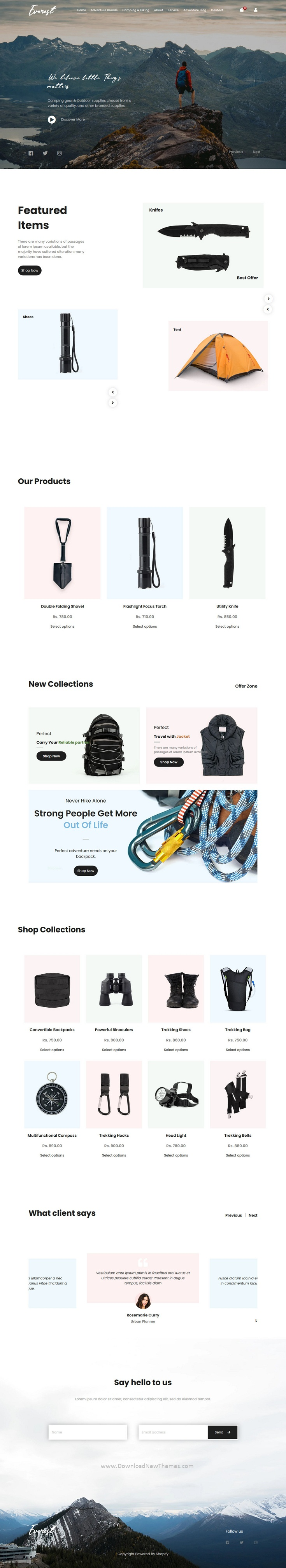 Adventure Shop Shopify Theme