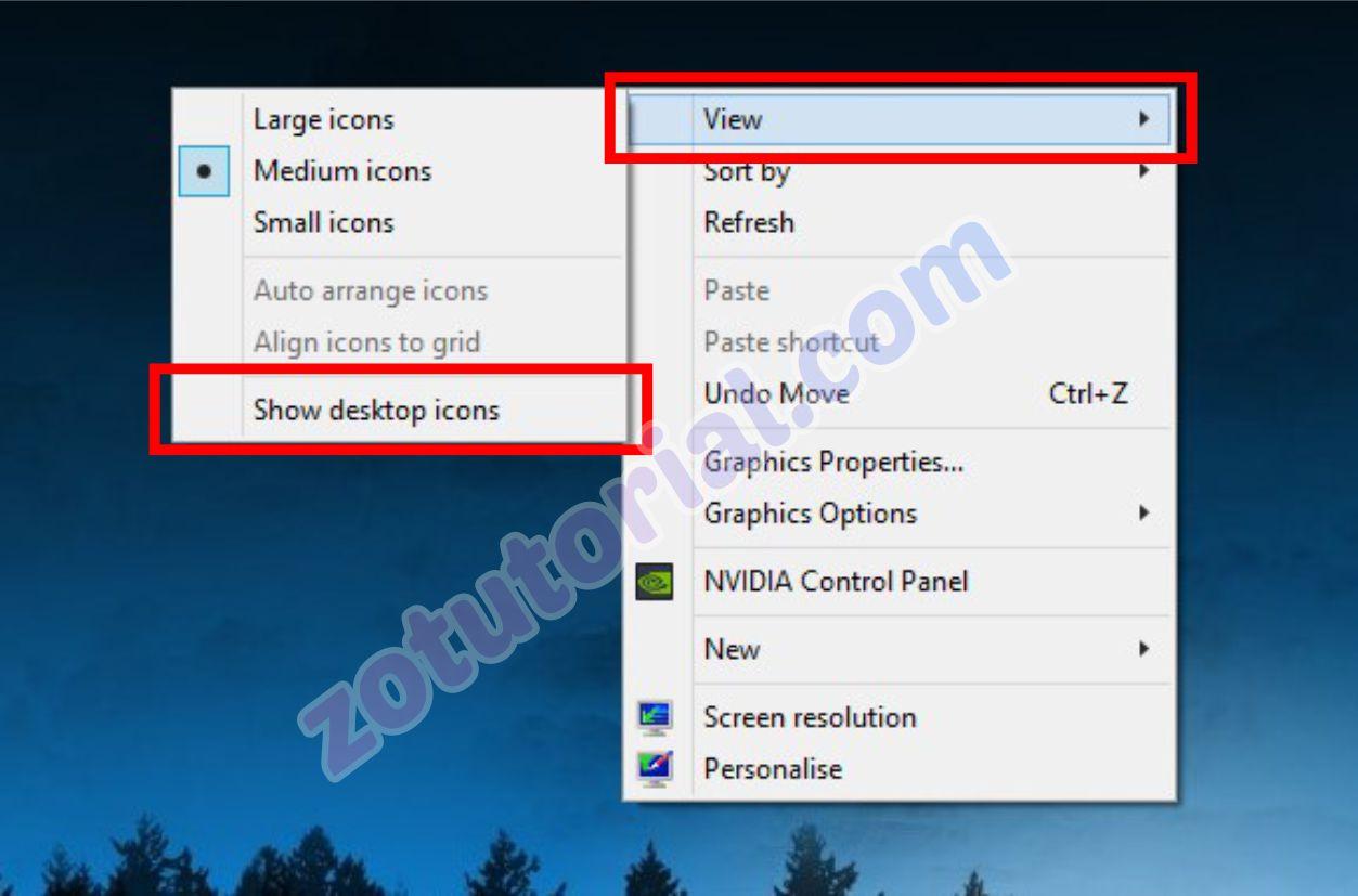 3 Cara Menyembunyikan Icon Aplikasi Shortcut Di Windows 10 8 7 Zotutorial