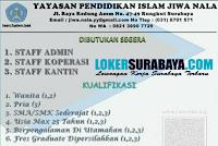 Bursa Kerja Surabaya di Yayasan Pendidikan Islam Jiwa Nala Surabaya November 2019
