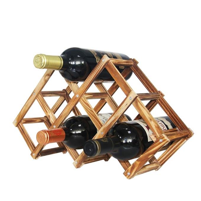 ooden Wine Bottle Holder Shelves